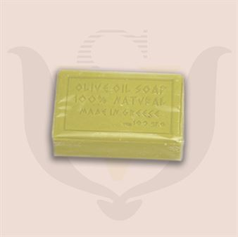 Picture of Olive Oil Soap Lemon 100gr. Wrapped in Cellophane